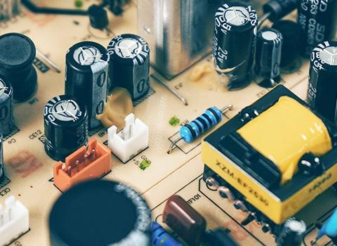 What tests are generally required for electronic components?